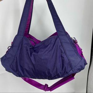 Large NIKE purple gym bag duffle